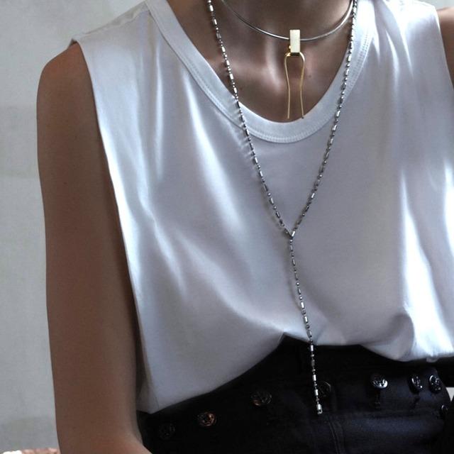 【 sea'ds mara 】 - 21A2-20 - Random cut ball chain neckless