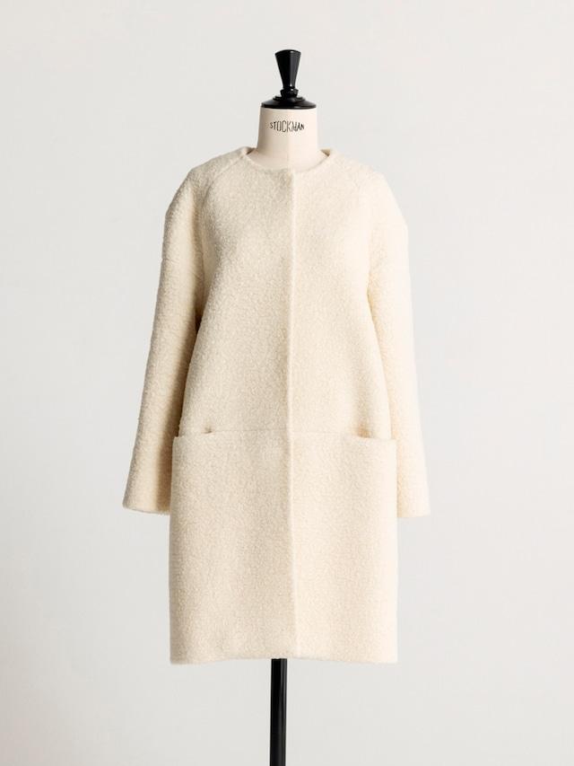 no-collar poodle hair coat