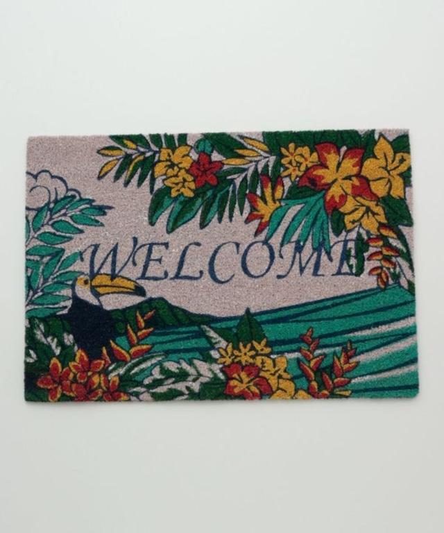 ≪再入荷≫【kahiko/カヒコ】ハワイアンな屋外用玄関マット WELCOME