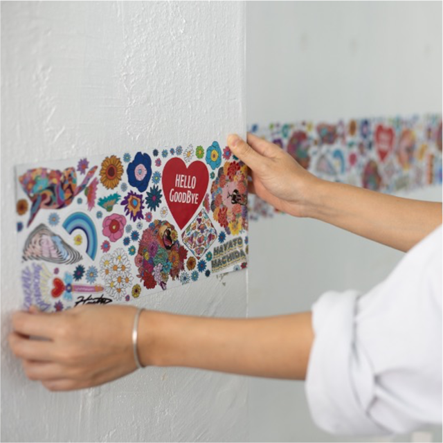 Stickers:マチダ ハヤトさんの Wall stickers (アートな壁紙)