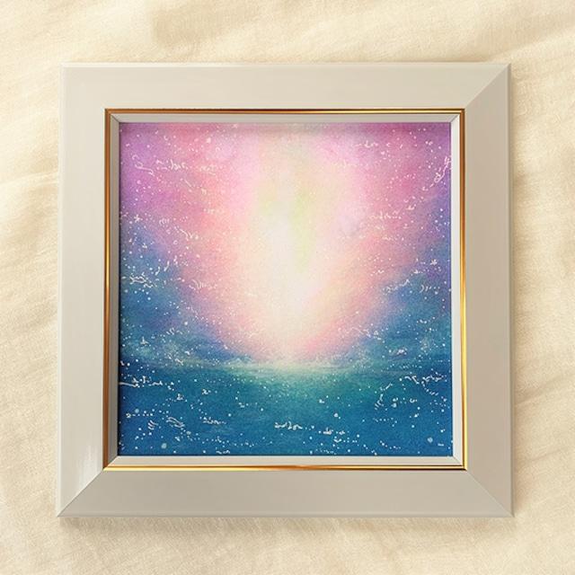 海と光 原画 風水画 20cm角パステルアート