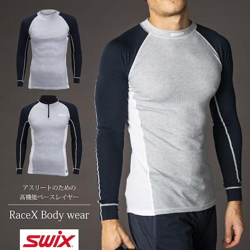 スウィックス swix レースX ボディウェア メンズ ベースレイヤー 【紺】 40811-11200 インナー スキー スノーボード スノボ クロスカントリー 登山 キャンプ フィットネス ウェア