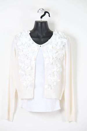 ヒラヒラお花のボレロ【白】