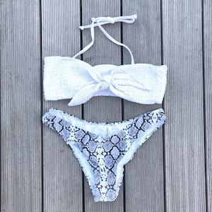 Bikini♡パイソンボトムホワイトビキニ