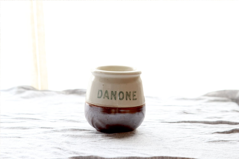 【DANONE/ダノン】ヨーグルトポット(陶器)