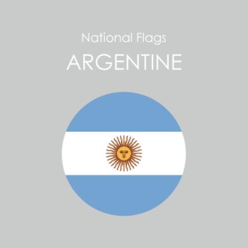 円形国旗ステッカー「アルゼンチン」