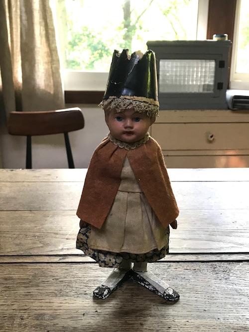 木と紙で作られた人形 ヨーロッパビンテージ