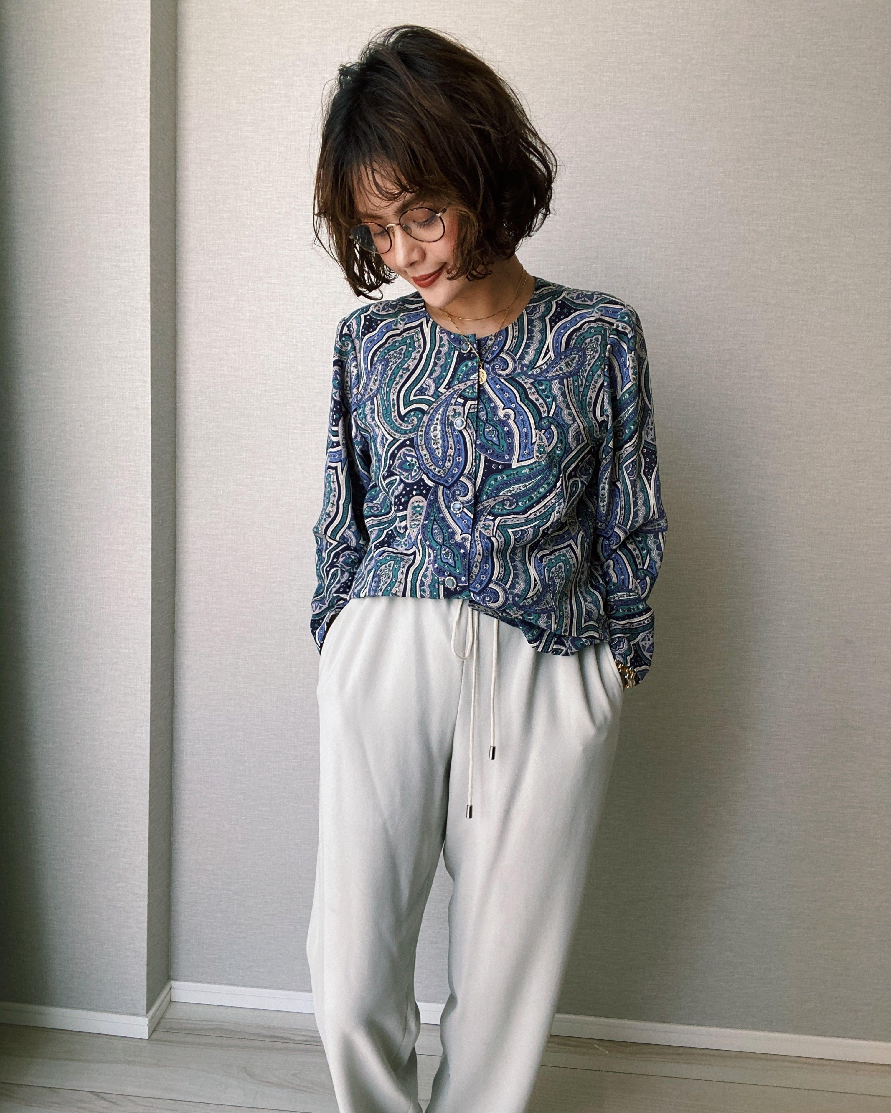 (SH157)Paisley rayon shirt