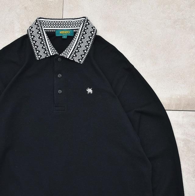 KENZO golf design collar polo shirt