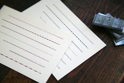 装飾罫線ポストカード【fuzoroi】