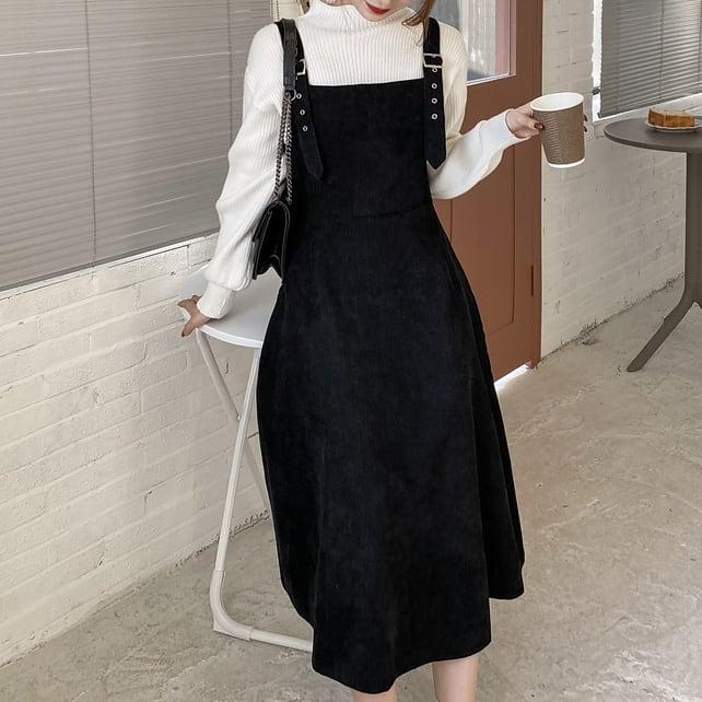 【S-4XL】サスペンダースカート