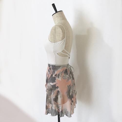 "❖""Fiorina"" Ballet Wrap Skirt - Suisai Brush・PINK [Sheer](水彩ブラッシュ・ピンク [シアー])"