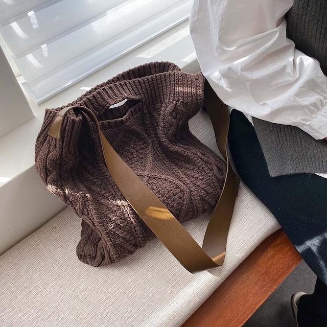 ウール織りショルダーバッグ 4色 【201025】