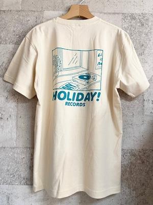 THE DAY バックプリント・ロゴ・Tシャツ(グリーン)