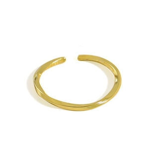 s925 Twist Ring【GOLD】