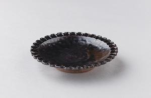 杉原伸一 黒釉4寸皿