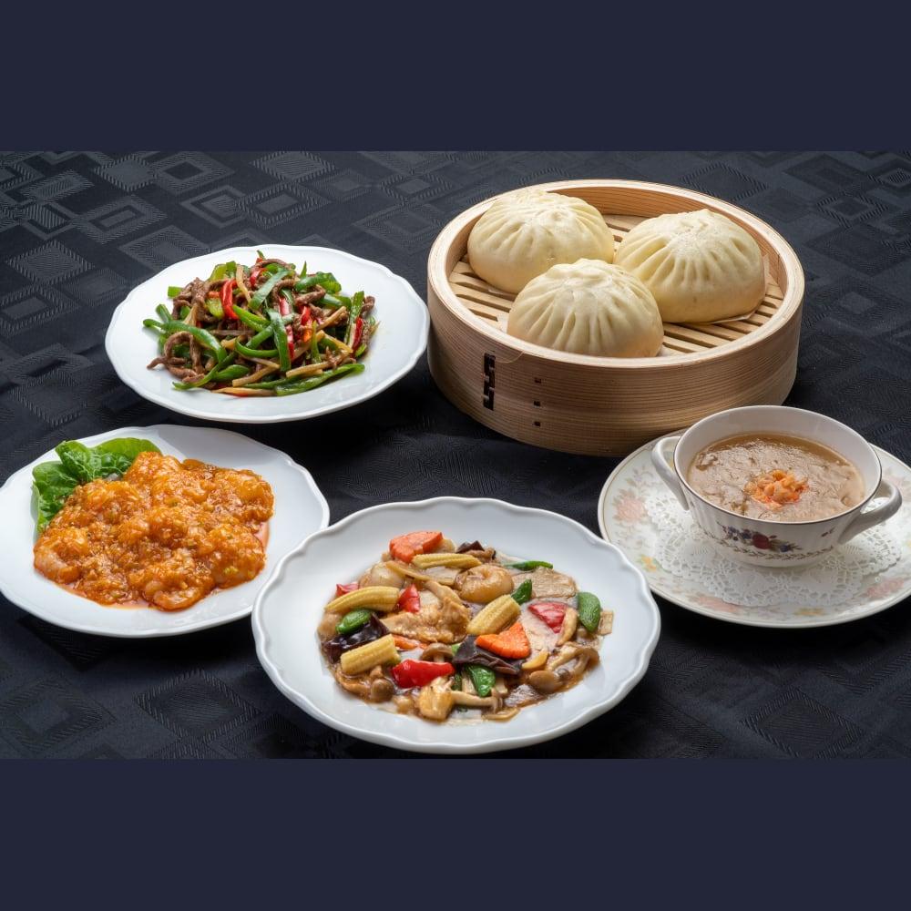【通販専用】【上海菜館】中華ディナー5点セット/冷凍