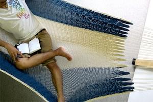 """ハンモック  """"Bed-mock""""  ( Aizome × Plain )    Size-S  (180cm)"""