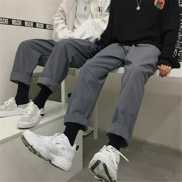 【ボトムス】「*ユニセック」韓国風INSストリートズボンゆったりストレートカジュアルパンツ43008600