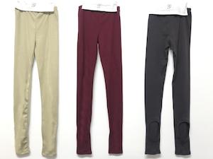 Last one! GRIS 20AW Holey Leggings Leggings Sサイズ (beige/charcoal)[GR20AW-CU005A]メール便可