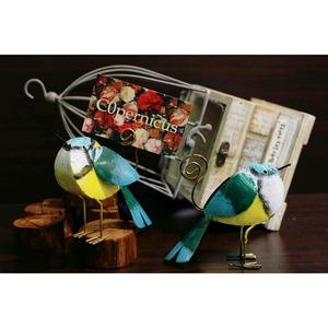 カードスタンド ブリキのインコオブジェ /浜松雑貨屋 C0pernicus