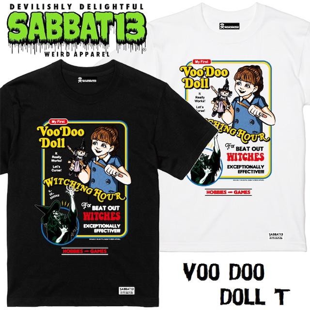 SABBAT13 / サバトサーティーン / サバト13「Voo Doo Doll T」Tシャツ 半袖 黒 白 ブラック ホワイト アメコミ スカル ドクロ メンズ レディース ロゴ ロック パンク バンド ROCK PUNK フェス ギフト ラッピング無料 ステージ衣装 Rogia