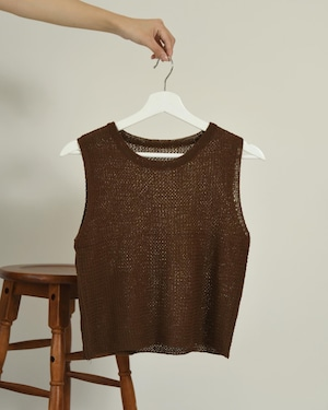 rough knit no sleeve