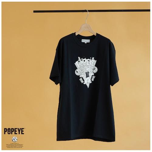 【 POPEYE™ × DUSTANDROCKS 】VINTAGEイラスト Tシャツ T-SHIRT