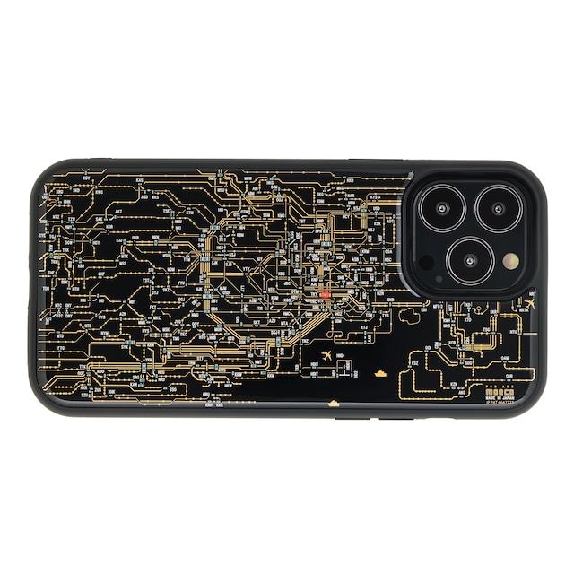 FLASH 東京回路線図 iPhone 13 Pro Maxケース 黒【東京回路線図A5クリアファイルをプレゼント】