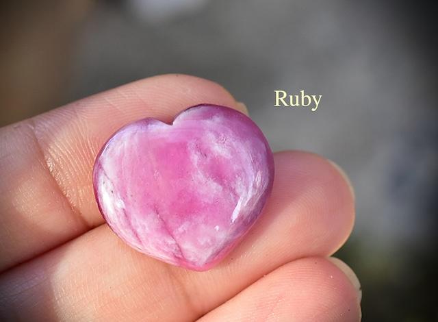 淡いピンク★ハート型★ルビー ルース rub021