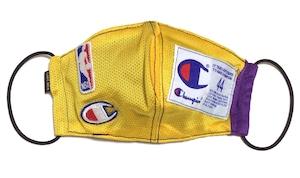 【デザイナーズマスク 吸水速乾COOLMAX使用 日本製】NBA LAKERS SPORTS SPECIAL champion MASK CTMR 0225003