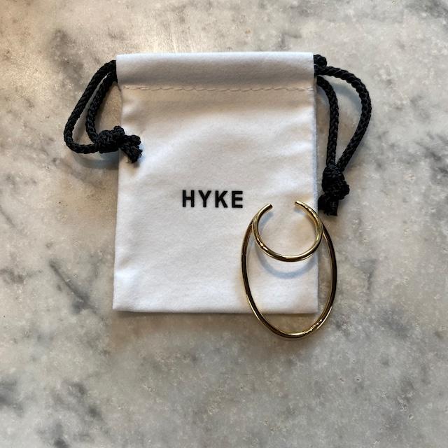 HYKE【ハイク】ELLIPSE HOOP EAR CUFF (No.19192 GOLD).