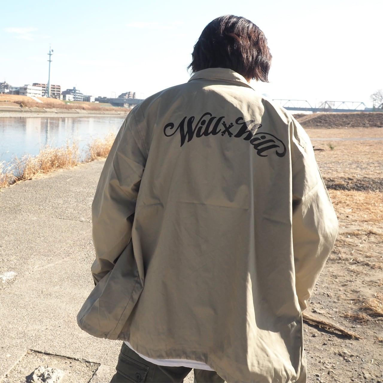 WillxWill Arch Logo Coach Jacket Beige