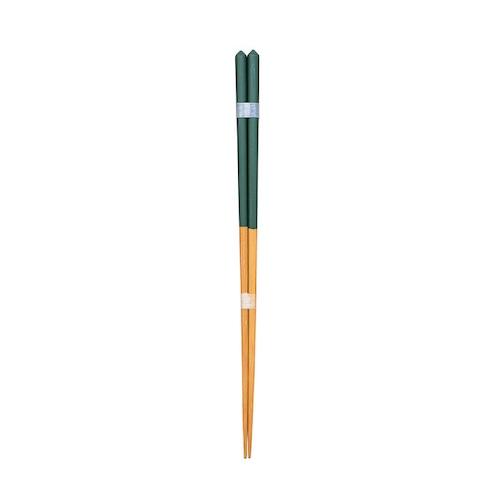 ダイヤカット箸(大)緑 【45-063】