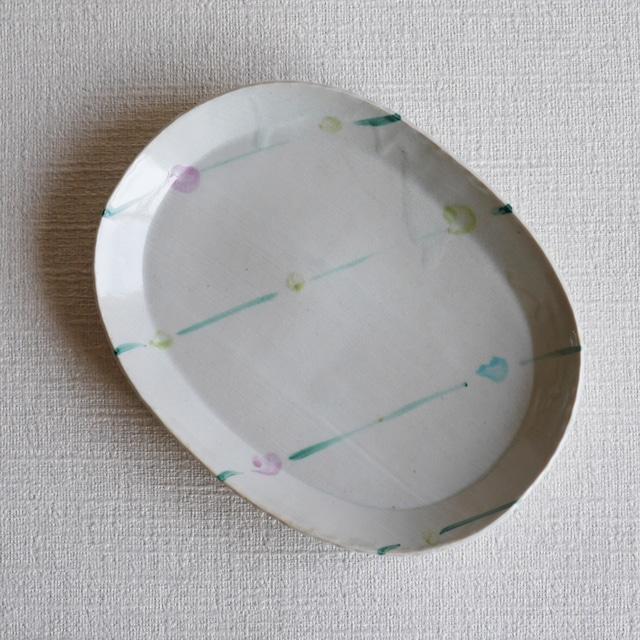 色絵オーバル皿 -Outlet-