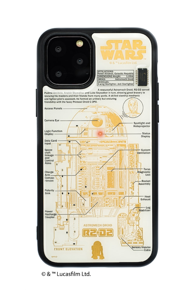 FLASH R2-D2 基板アート iPhone 11 Pro ケース  白【東京回路線図A5クリアファイルをプレゼント】
