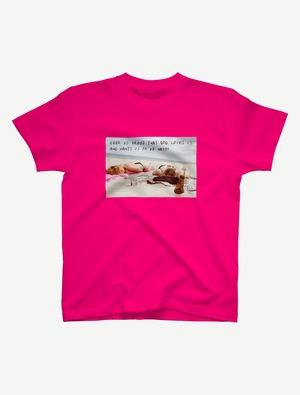 【悩み無用の開放ビーチ】Tシャツ(トロピカルピンク)