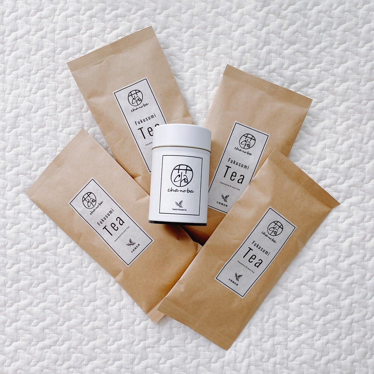 大和福住茶 4本+茶缶セット【送料無料】