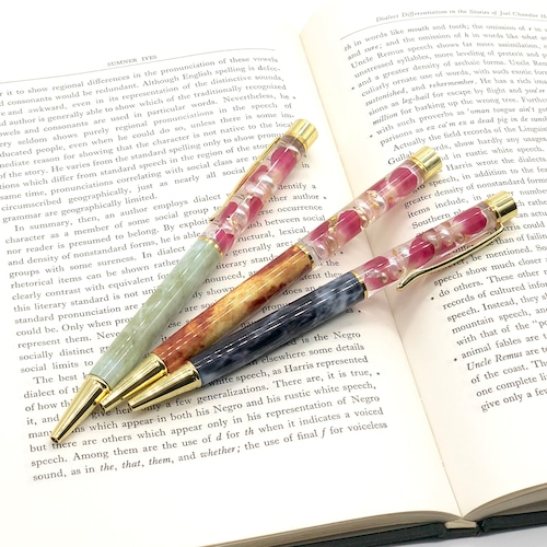 ハートの花びら ハーバリウムボールペン