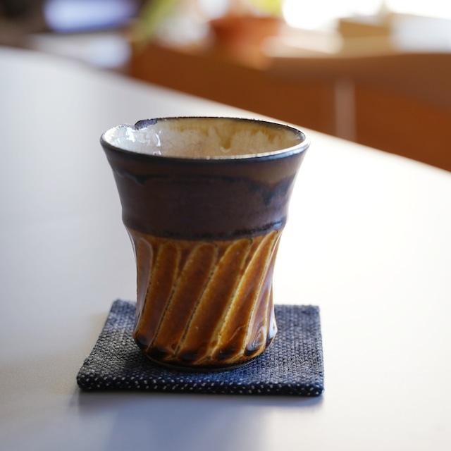 うしじま縫製 | 武州正藍染 正方形コースター 一重刺子
