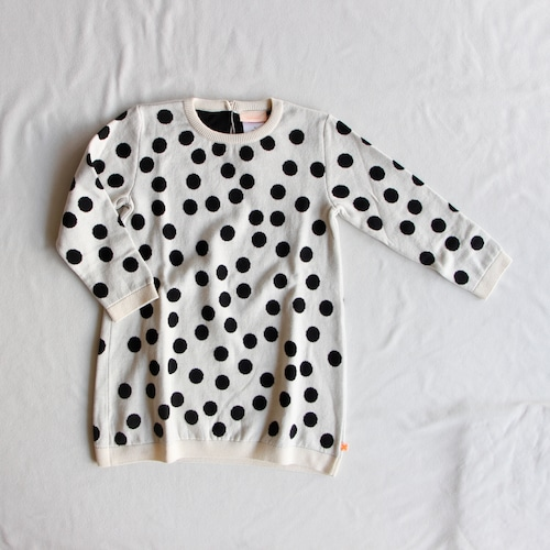 《tinycottons 2015AW》big dots dress knit / creme / 4Y