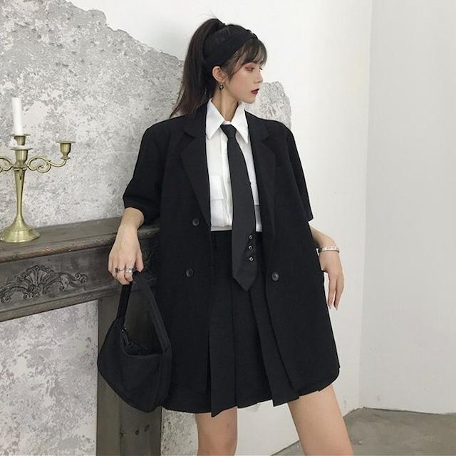 【セット】「単品注文」カジュアルシャツ+ショートスカート+半袖スーツ3点セット30693911