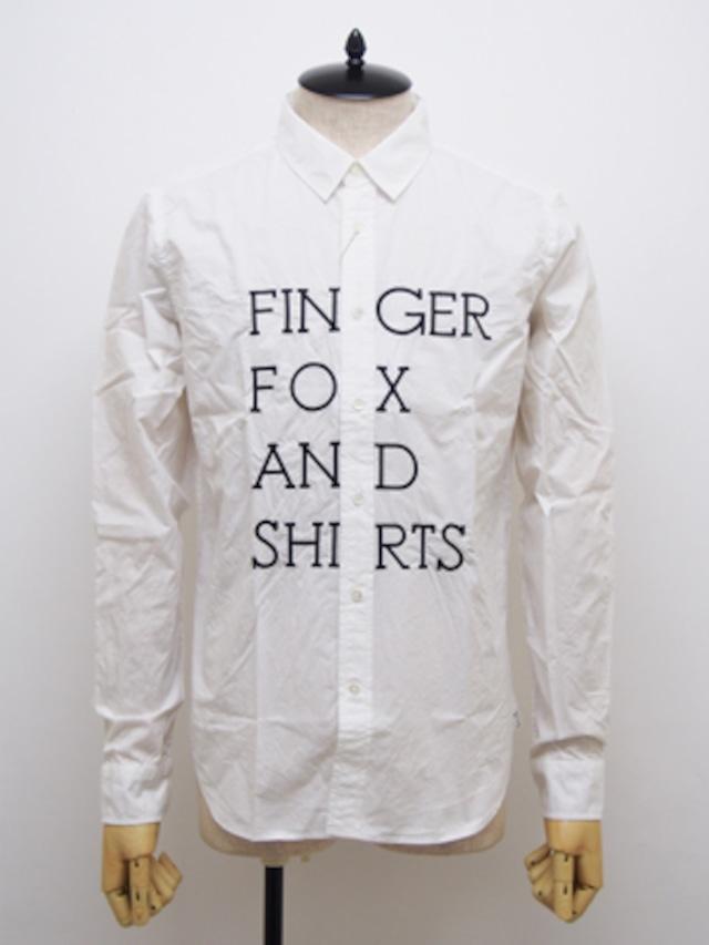 FINGER FOX AND SHIRTS (フィンガーフォックスアンドシャツ) 60/-Typewriter FFS Shirts / WHITE2   FFS-0002-01