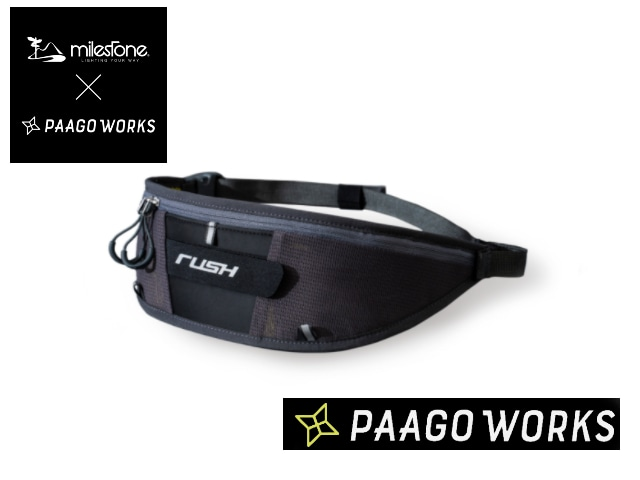 【paagoworks】 RUSH Light Belt Waist Pouch MGN(Mid Night)