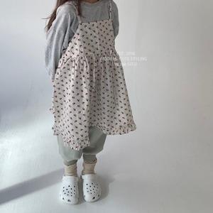 «sold out» go.u Jumper skirt flower ジャンパースカート フラワー
