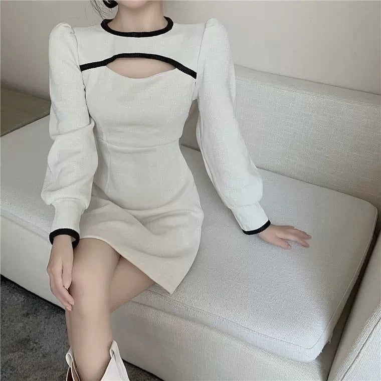 rétro design cut dress