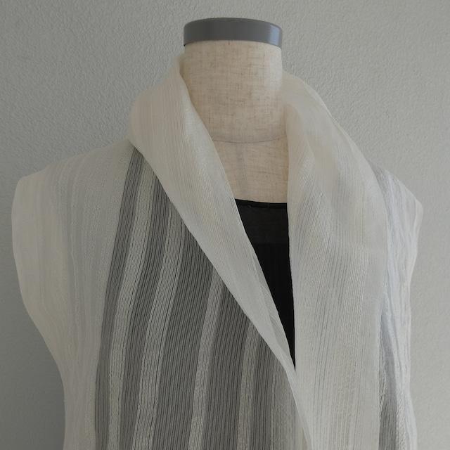 【ショール】silk ホワイト