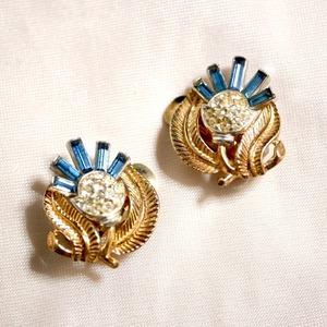Crown Trifari アザミ clip-on Earrings