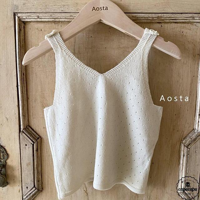 «sold out» Aosta de mone knit top 3colors サマーニットノースリーブ