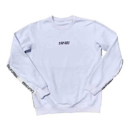 California tape sweater 【White】